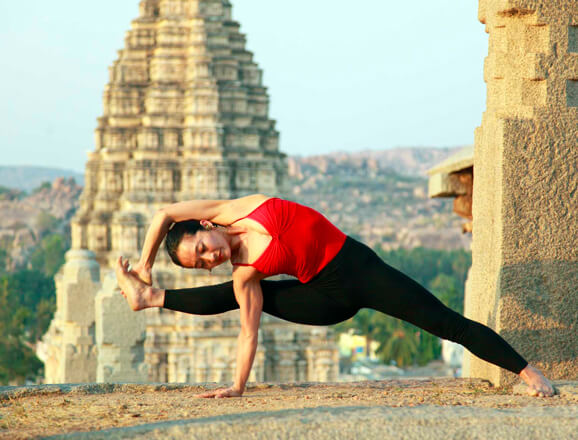Yoga at Khajuraho temples