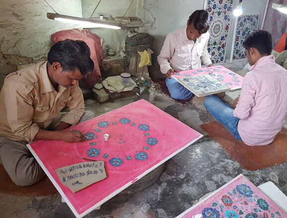 Marble inlay workshop